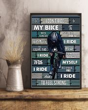 Cycling I Ride To Feel Strong 11x17 Poster lifestyle-poster-3