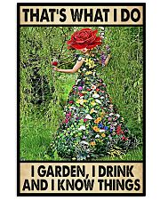 Gardening Drink Know Things 11x17 Poster front