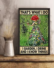 Gardening Drink Know Things 11x17 Poster lifestyle-poster-3