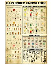 Bartender Knowledge 11x17 Poster front