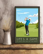 Golf Life Is A Game 11x17 Poster lifestyle-poster-3