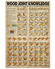 Carpenter Wood Joint Knowledge  11x17 Poster front