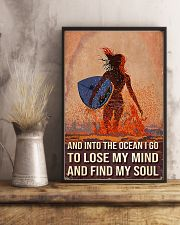 Surfing And Into The Ocean I Go To Find My Soul 11x17 Poster lifestyle-poster-3