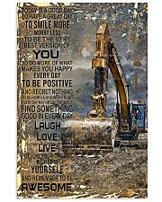 Excavator Today Is A Good Day 11x17 Poster front