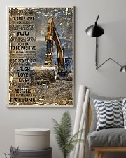 Excavator Today Is A Good Day 11x17 Poster lifestyle-poster-1