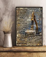 Excavator Today Is A Good Day 11x17 Poster lifestyle-poster-3
