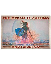 Surfing -  The Ocean Is Calling And I Must Go 17x11 Poster front