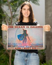 Surfing -  The Ocean Is Calling And I Must Go 17x11 Poster poster-landscape-17x11-lifestyle-19