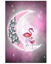 Flamingo I Love you To The Moon And Back 11x17 Poster front