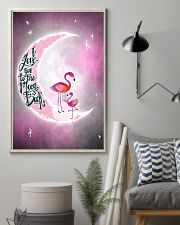 Flamingo I Love you To The Moon And Back 11x17 Poster lifestyle-poster-1