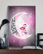 Flamingo I Love you To The Moon And Back 11x17 Poster lifestyle-poster-2