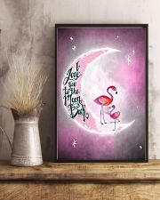 Flamingo I Love you To The Moon And Back 11x17 Poster lifestyle-poster-3
