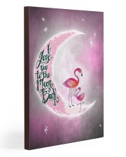 Flamingo I Love you To The Moon And Back 20x30 Gallery Wrapped Canvas Prints thumbnail