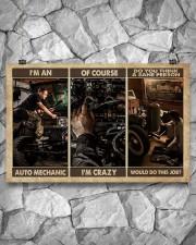 Mechanic I'm An Auto Mechanic 17x11 Poster aos-poster-landscape-17x11-lifestyle-13