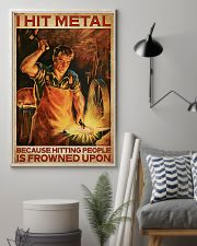 Blacksmith I Hit Mental 11x17 Poster lifestyle-poster-1