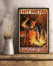 Blacksmith I Hit Mental 11x17 Poster lifestyle-poster-3