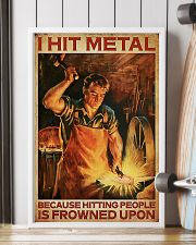 Blacksmith I Hit Mental 11x17 Poster lifestyle-poster-4