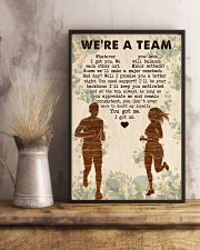 Running - We're A Team 11x17 Poster lifestyle-poster-3