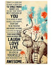 Elephants Remember To be Awesome 11x17 Poster front