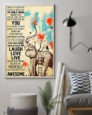 Elephants Remember To be Awesome 11x17 Poster lifestyle-poster-1