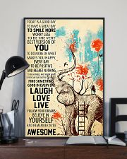 Elephants Remember To be Awesome 11x17 Poster lifestyle-poster-2