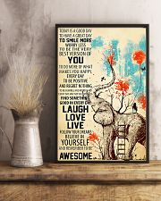 Elephants Remember To be Awesome 11x17 Poster lifestyle-poster-3