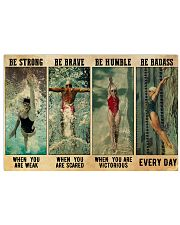 Swimmers Be Humble When You Are Victorious  17x11 Poster front