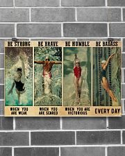 Swimmers Be Humble When You Are Victorious  17x11 Poster poster-landscape-17x11-lifestyle-18