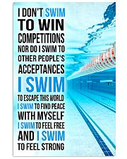 Swimming -  I Swim To Find Peace With Myself 11x17 Poster front