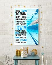 Swimming -  I Swim To Find Peace With Myself 11x17 Poster lifestyle-holiday-poster-3