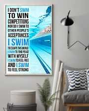 Swimming -  I Swim To Find Peace With Myself 11x17 Poster lifestyle-poster-1