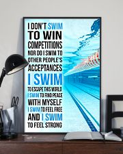 Swimming -  I Swim To Find Peace With Myself 11x17 Poster lifestyle-poster-2