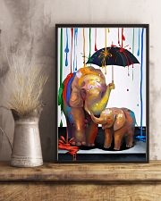 Elephant - Colorful Rain 11x17 Poster lifestyle-poster-3