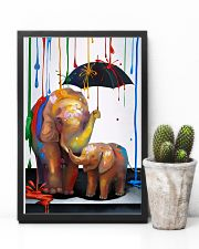 Elephant - Colorful Rain 11x17 Poster lifestyle-poster-8