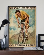 Cycling With Your Heart 11x17 Poster lifestyle-poster-2