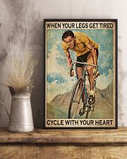 Cycling With Your Heart 11x17 Poster lifestyle-poster-3