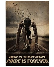 Running - Pain Is Temporary Pride Is Forever 11x17 Poster front