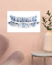 Dentist Pan X Ray Teeth Watercolor Art 17x11 Poster poster-landscape-17x11-lifestyle-22
