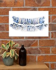 Dentist Pan X Ray Teeth Watercolor Art 17x11 Poster poster-landscape-17x11-lifestyle-23
