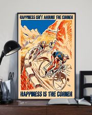 Cycling Happiness Is The Corner 11x17 Poster lifestyle-poster-2