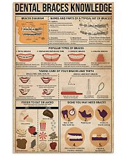 Dentist Dental Braces Knowledge 11x17 Poster front