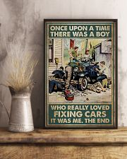Mechanic A Boy Who Really Loved Fixing Cars 11x17 Poster lifestyle-poster-3