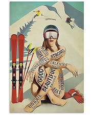Skiing Girl Text 11x17 Poster front