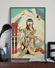 Skiing Girl Text 11x17 Poster lifestyle-poster-2