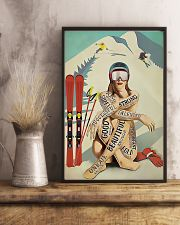 Skiing Girl Text 11x17 Poster lifestyle-poster-3