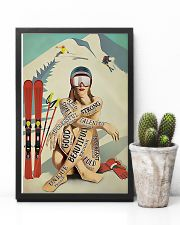 Skiing Girl Text 11x17 Poster lifestyle-poster-8