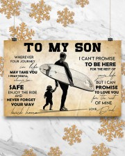 Surfing To My Son 17x11 Poster aos-poster-landscape-17x11-lifestyle-30