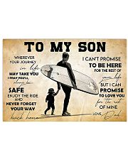 Surfing To My Son 17x11 Poster front
