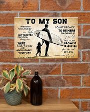 Surfing To My Son 17x11 Poster poster-landscape-17x11-lifestyle-23