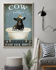 Cow Bath Soap Established Wash Your Hooves 11x17 Poster lifestyle-poster-1